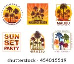 exotic travel backgrounds with... | Shutterstock . vector #454015519
