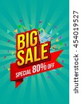 sale banner template design ... | Shutterstock .eps vector #454019527