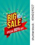 sale banner template design ... | Shutterstock .eps vector #454019527