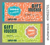 blank of gift voucher vector... | Shutterstock .eps vector #454022731