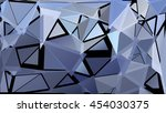 randomly scattered triangles of ... | Shutterstock .eps vector #454030375