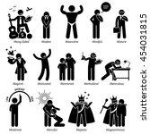 positive personalities... | Shutterstock . vector #454031815