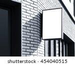 signboard shop mock up square... | Shutterstock . vector #454040515