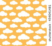 cloud vector seamless pattern.... | Shutterstock .eps vector #454041481