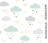 cute seamless pattern with... | Shutterstock .eps vector #454041499