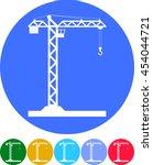 building tower crane icon  ... | Shutterstock .eps vector #454044721