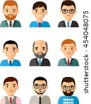 set of business avatar peoples... | Shutterstock .eps vector #454048075