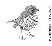 cartoon birds. stylized birds.... | Shutterstock .eps vector #454050349