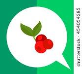 coffee cherry icon | Shutterstock .eps vector #454054285