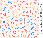 memphis style seamless pattern. ... | Shutterstock .eps vector #454054819