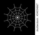 spider web clip. white cobweb... | Shutterstock .eps vector #454054867