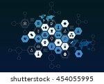 nanotechnology medicine concept ... | Shutterstock . vector #454055995