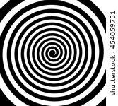 Black And White Hypnotic Spira...