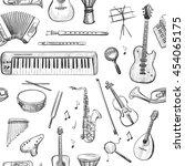 vector set of sketches of...   Shutterstock .eps vector #454065175