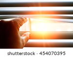 Bright Sun Shining Through A...