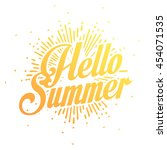 summer vector illustration... | Shutterstock .eps vector #454071535