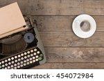vintage typewriter on the old... | Shutterstock . vector #454072984