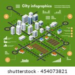 3d city isometric three... | Shutterstock .eps vector #454073821