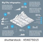 3d city isometric three... | Shutterstock .eps vector #454075015