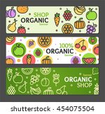 eco shop banner horizontal set... | Shutterstock .eps vector #454075504