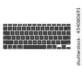 computer keyboards. modern ...   Shutterstock .eps vector #454080691