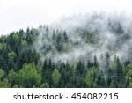 View Of Foggy Mountains