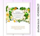 romantic invitation. wedding ... | Shutterstock . vector #454088629