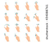 touch screen hand gestures flat ... | Shutterstock .eps vector #454088761