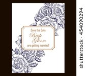 romantic invitation. wedding ... | Shutterstock . vector #454090294