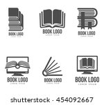 set of black and white book... | Shutterstock .eps vector #454092667