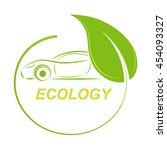 green ecological car background | Shutterstock .eps vector #454093327