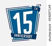 15th anniversary design...   Shutterstock .eps vector #454097149