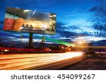 billboard blank for outdoor... | Shutterstock . vector #454099267