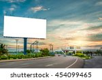 billboard blank for outdoor... | Shutterstock . vector #454099465