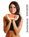Woman Hold Watermelon