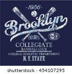 brooklyn baseball club  vector... | Shutterstock .eps vector #454107295