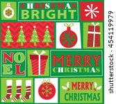 christmas ornament red and... | Shutterstock .eps vector #454119979