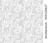 white lace seamless pattern... | Shutterstock .eps vector #454120627
