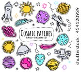 space  cosmic patch set. print...   Shutterstock .eps vector #454120939
