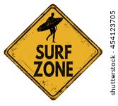 surf zone vintage rusty metal... | Shutterstock .eps vector #454123705