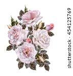 flower composition.bouquet of... | Shutterstock . vector #454125769