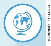 world globe.vector icon. | Shutterstock .eps vector #454127701