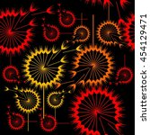 seamless pattern with... | Shutterstock .eps vector #454129471