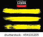 set of grunge lines. isolated... | Shutterstock .eps vector #454131205