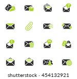 mail and envelope web icons for ... | Shutterstock .eps vector #454132921
