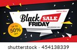 black friday sale banner | Shutterstock .eps vector #454138339