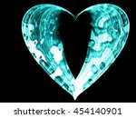 curly blue cyan lines abstract... | Shutterstock . vector #454140901