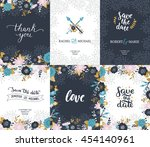 save the date cards  wedding... | Shutterstock .eps vector #454140961
