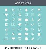 icon set  flat design. web... | Shutterstock .eps vector #454141474