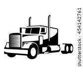 Black   White Heavy Truck...